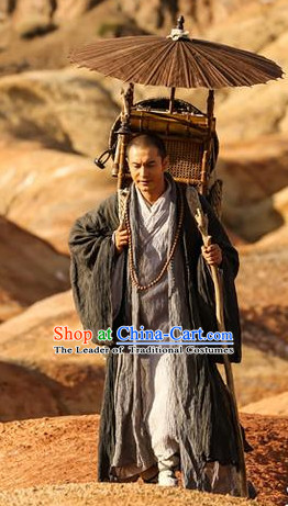 Ancient Chinese Tang Dynasty Tang Seng Traveler Costumes Complete Set for Men