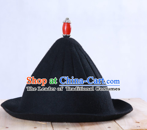 Chinese Ancient Style Black Handmade Hat for Men