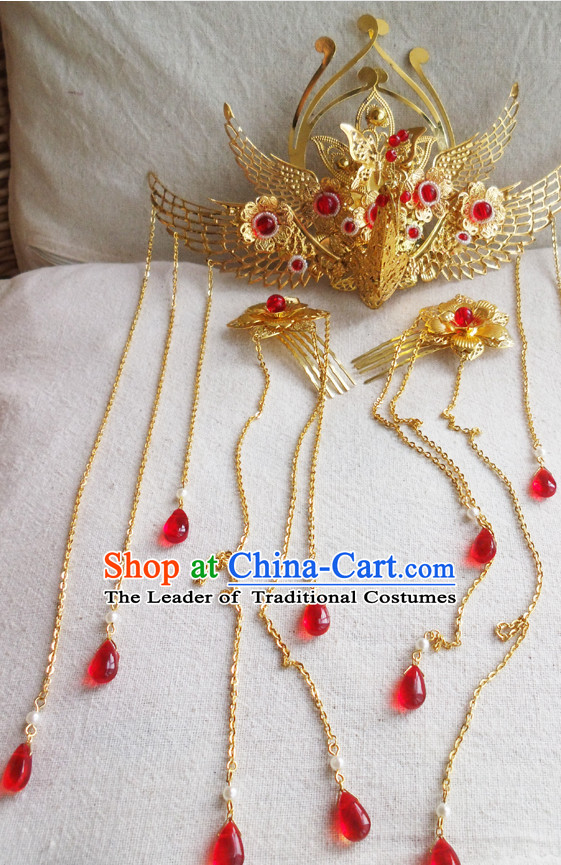 Chinese Ancient Style Handmade Fairy Princess Hair Jewelry Set
