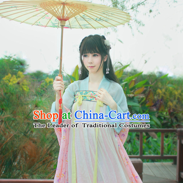 Traditional Chinese Tang Dynasty Noblewoman Clothes Blouse Skirt and Hair Jewelry Complete Set for Women
