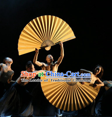 Professional Stage Performance Gold Giant Fan