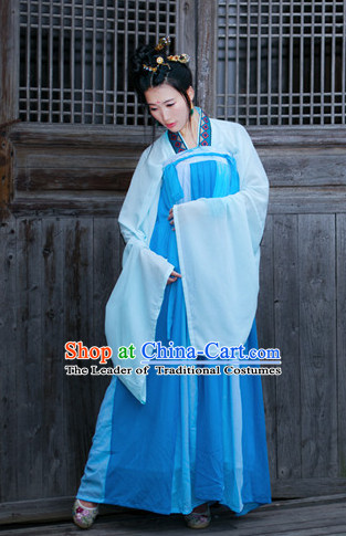 Tang Dynasty Women Han Fu_Hanfu Clothing Hanzhuang Historical Dress Historical Clothing and Accessories Complete Set for Women