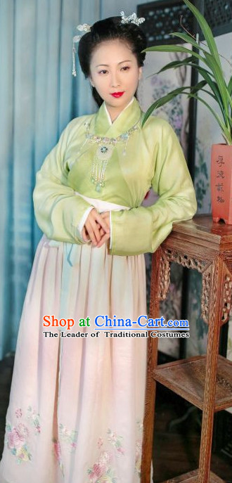 Han Dynasty Women Han Fu_Hanfu Clothing Hanzhuang Historical Dress Historical Clothing and Accessories Complete Set for Women
