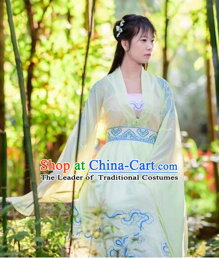 Women Han Fu_Hanfu Clothing Hanzhuang Historical Dress Historical Clothing and Accessories Complete Set
