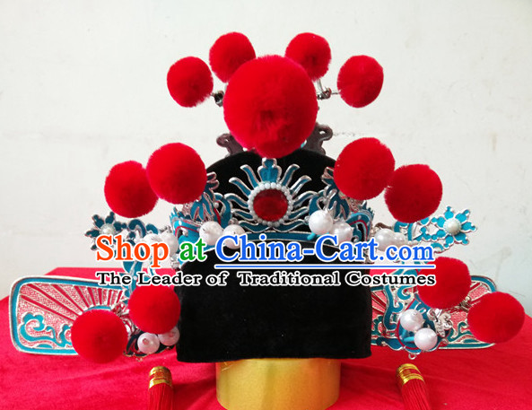 Chinese Opera Peking Opera Famous Operas Beijing Opera Jingju Bridegroom Official Hat Headwear for Men Boys