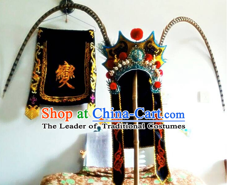 Chinese Opera Peking Opera Famous Operas Beijing Opera Jingju Mask Change Performance Hat Headwear for Men Boys
