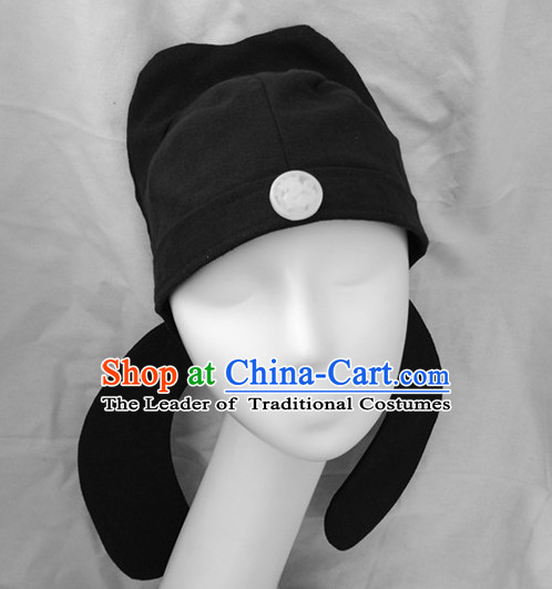 Handmade Chinese Ancient Style Tang Dynasty Black Hat for Men