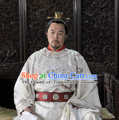 Chinese Traditional Emperor King Dress Hanfu Costume China Kimono Robe Ancient Chinese Clothing National Costumes Gown Wear for Men
