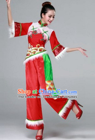 aaeb54d00 Chinese Fan Dance Costumes Traditional Chinese Clothing Dress ...