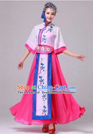 1412ea6a9 Chinese Fan Dance Costumes Traditional Chinese Clothing Dress Dancewear  Dance Clothes Outfits Dresses and Hat Complete Set for Women