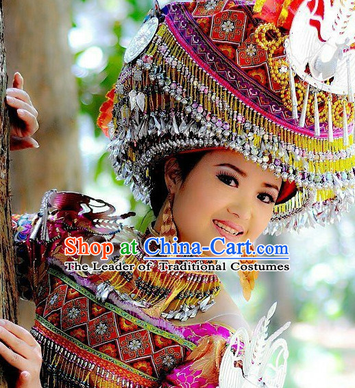 Chinese Miao Tribe Handmade Hat for Women