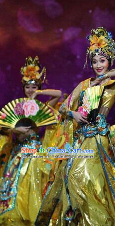 Chinese Classical Folk Dance Dress Clothing Dresses Costume Classic Dancing Cultural Dances Costumes for Women