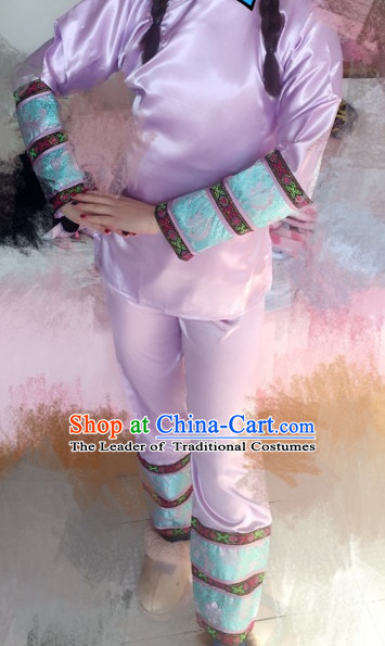 Qing Dynasty Emperor's Concubine Inside Clothing Pajamas Complete Set for Women