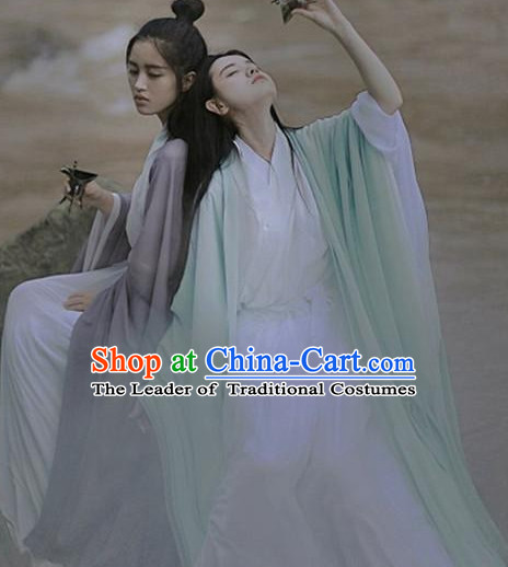 Ancient Chinese Drama Scene Costume Clothing Complete Set for Women or Men