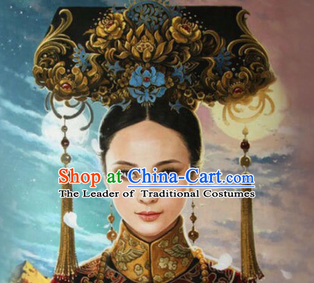 Qing Dynasty Quene Hairstyle Manchu Hairstyle Chinese Oriental Hairstyles