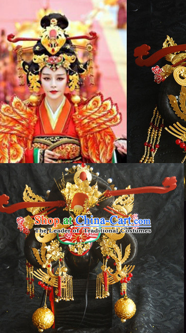 Tang Dynasty Imperial Royal Quene Phoenix Hairstyle Wigs Hairstyle Chinese Oriental Hairstyles