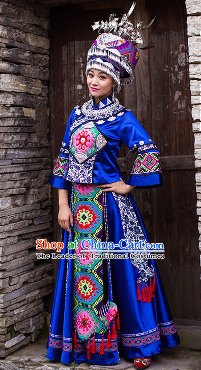 Chinese Ethnic Groups Wear Dresses Traditional Clothing for