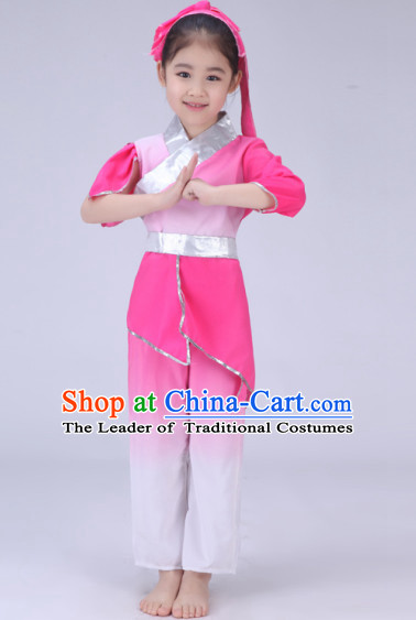 Chinese Traditional Dancer Costumes Complete Set for Kids