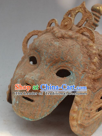 Ancient Chinese Style Archaic General Warrior Helmet