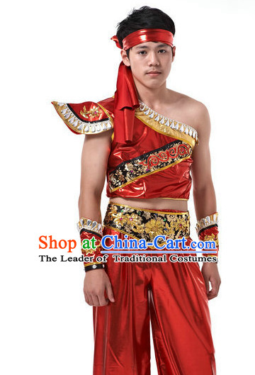 Traditional Chinese Dragon Dancer Uniform for Men