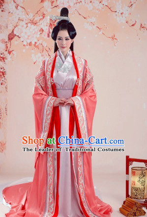 Traditional Chinese Ancient Princess Dresses Complete Set for Women