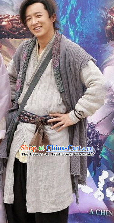 Top Chinese Ancient Knight Costume in Women's Theater and Reenactment Costumes Ancient Chinese Clothes Complete Set for Men