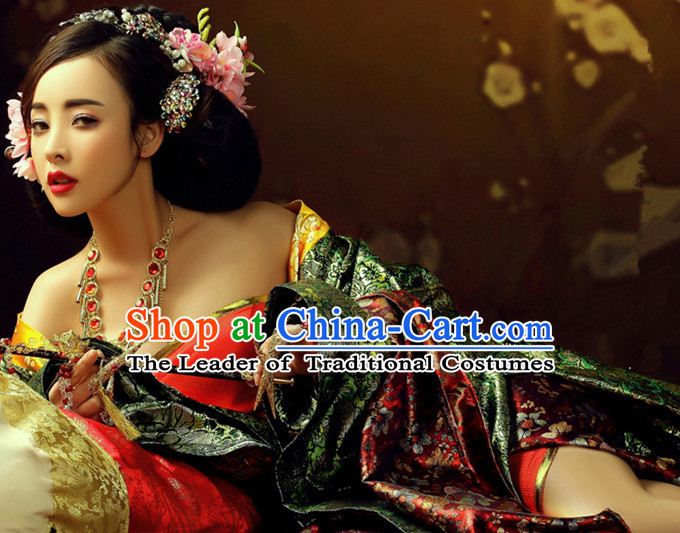 Chinese Sexy Women's Clothing _ Apparel Chinese Traditional Dress Theater and Reenactment Costumes and Headwear Complete Set