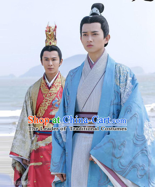 Chinese Ancient Prime Minister Men's Clothing & Apparel Chinese Traditional Dress Theater and Reenactment Costumes and Headwear Complete Set