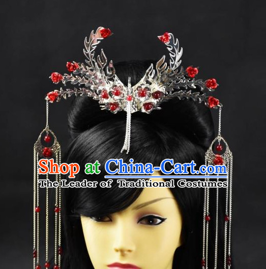 Top Chinese Empress Phoenix Hair Style China Hairpieces Chinese Traditional Hairpins Bridal Headwear