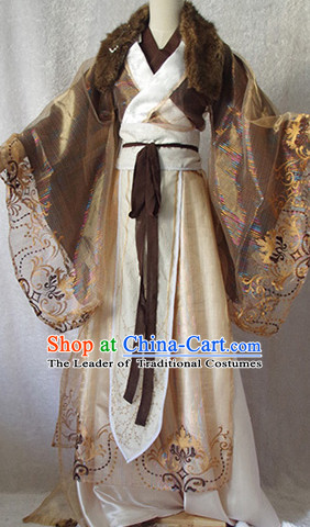 Chinese Ancient Han Fu Emperor Clothing Robes Tunics Accessories Traditional China Clothes Adults Kids