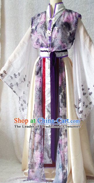 Chinese Ancient Han Fu Noblewoman Clothing Robes Tunics Accessories Traditional China Clothes Adults Kids