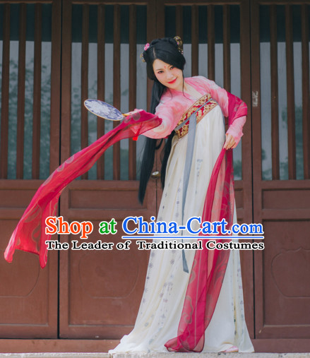 Chinese Tang Dynasty Hanfu Dress China Hanfu Costume Histroical Dresses Traditional Hanfu Wedding Ceremony Chinese Culture Clothing Complete Set