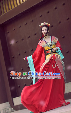 Chinese Ancient Princess Costume National Costumes Stage Play Dramas Drama Costume for Women