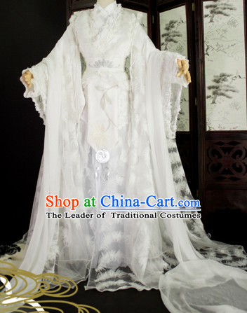 Top Chinese Ancient Princess Guzhuang Hanfu Women's Clothing & Apparel Chinese Traditional Dress Theater and Reenactment Costumes Complete Set