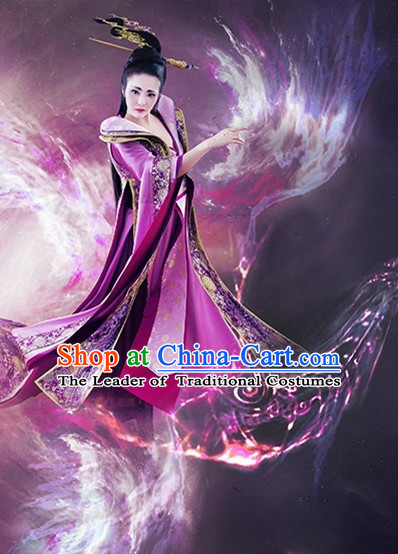 Ancient Chinese Princess Hanfu Dress Hanbok Kimono Phoenix Costume Ancient Cosplay Palace Costume Dresses Complete Set