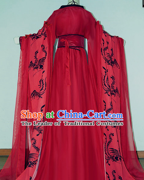 Chinese Traditional Princess Hanfu Dress Ancient Chinese Lady Costumes Complete Set for Women Girls