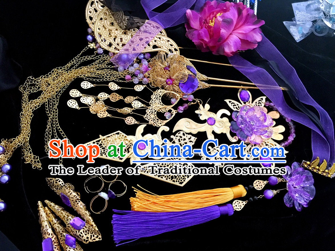 Chinese Ancient Hair Accessories Headpiece Headdress Phoenix Crown Hair Decoration Head Hairpin Accessories Comb Wedding Headwear Hair Accessorie Head Dress