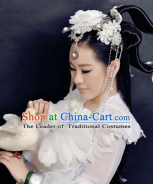 Chinese Ancient Wigs Hair Accessories Headpiece Headdress Phoenix Crown Hair Decoration Head Hairpin Accessories Comb Wedding Headwear Hair Accessorie Head Dress