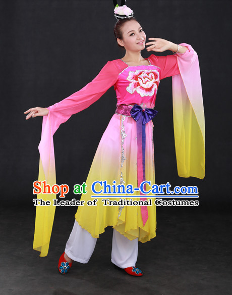 Long Sleeve Happy Festival Chinese Minority Dress Han Uniform Traditional Stage National Costume Sale