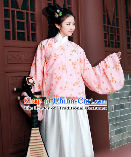 Asian Traditional High Quality Hanfu Ming Dynasty Clothes Costume Costumes Complete Set for Women Girls Children Adults