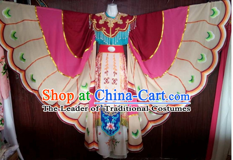 Chinese Yue Opera Butterfly Costumes Huang Mei Opera Butterfly Dancing Costume Complete Set for Women