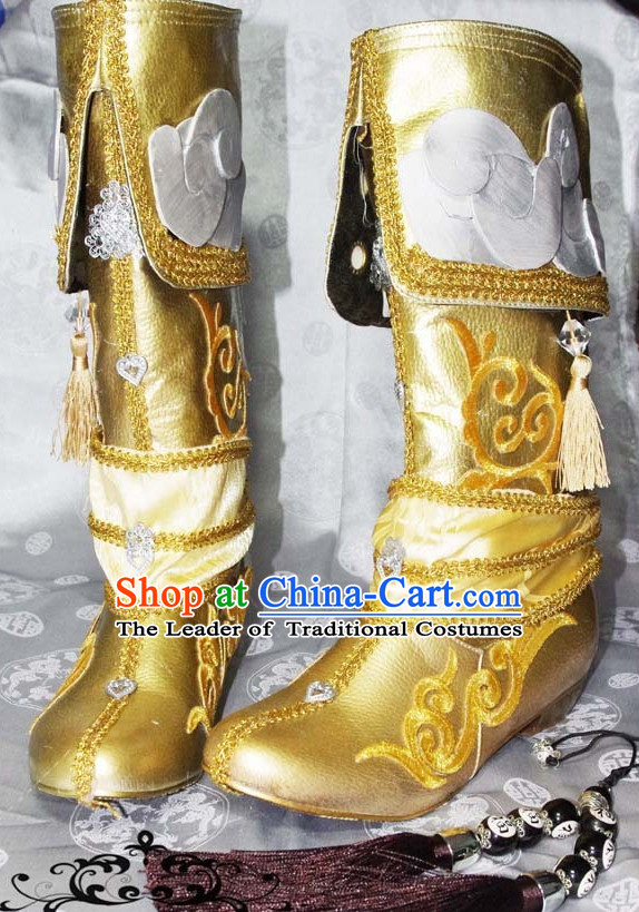 Top Chinese Traditional Cosplay Suphero Supheroine Classical Long Boot Boots