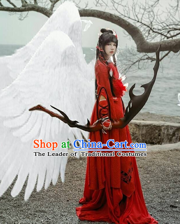 Ancient Chinese Wedding Dresses Hanzhuang Han Fu Han Clothing Traditional Chinese Dress Hanfu National Costume Complete Set for Women