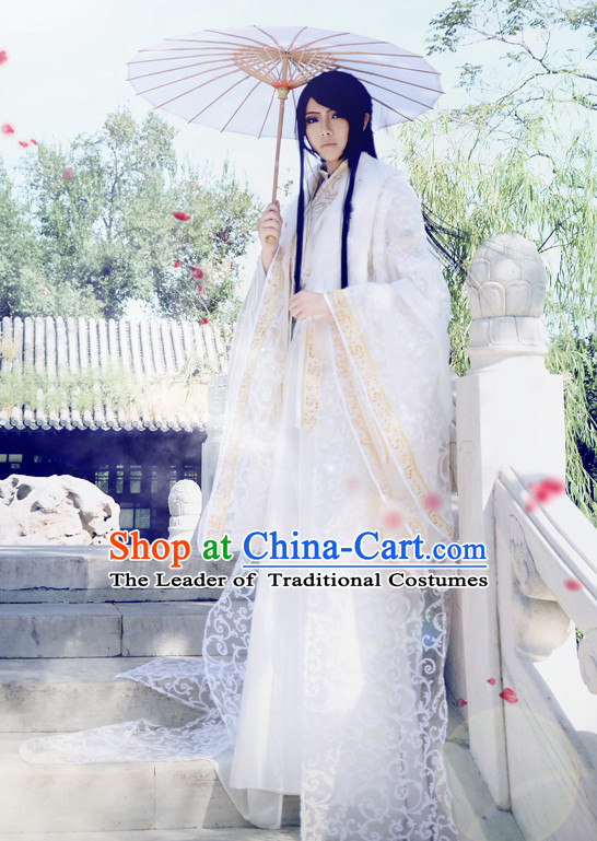 Chinese Classical Prince Imperial Dresses Hanfu Han Fu Complete Set for Men