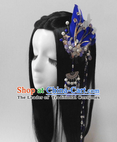 Chinese Classic Princess Fairy Headwear Crowns Hats Headpiece Hair Accessories Jewelry Set