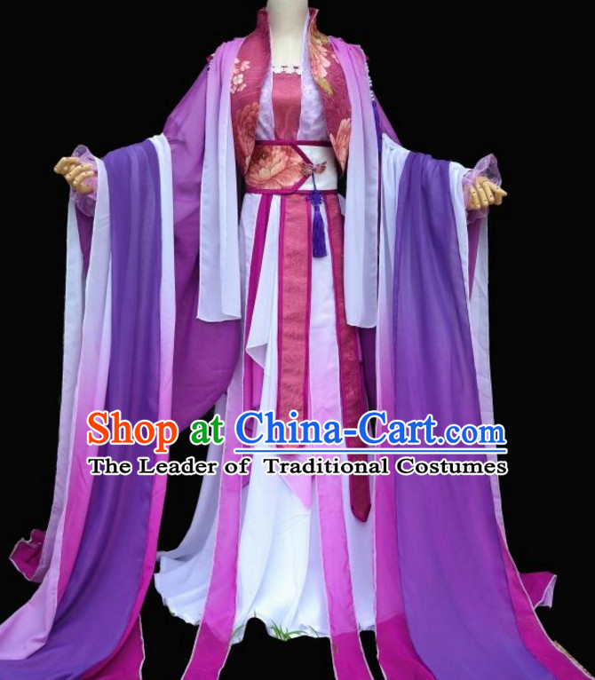 Purple Chinese Classical Fairy Costumes Complete Set