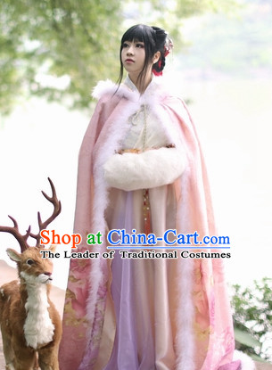 Top Pink Chinese Ancient Princess Hanfu Costumes Theater and Reenactment Costumes and Headgear Complete Set for Women