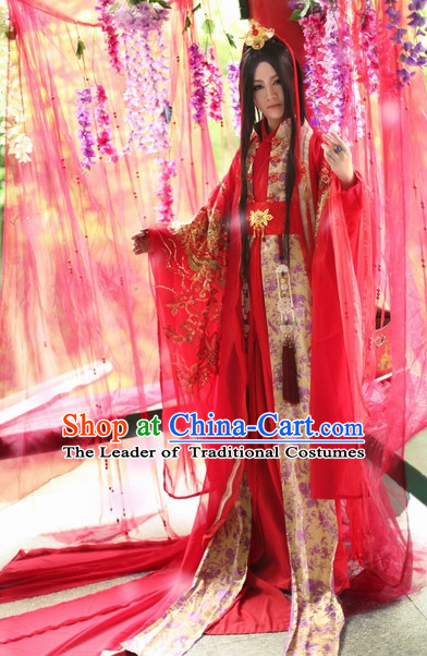 Top Chinese Bridegroom Wedding Dress Hanfu Clothing Theater and Reenactment Costumes Complete Set