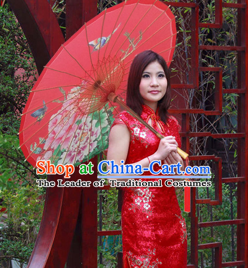Asian Dance Umbrella Chinese Handmade Peony Umbrellas Stage Performance Umbrella Dance Props
