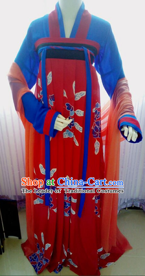Chinese Tang Dynasty Women Clothing Complete Set